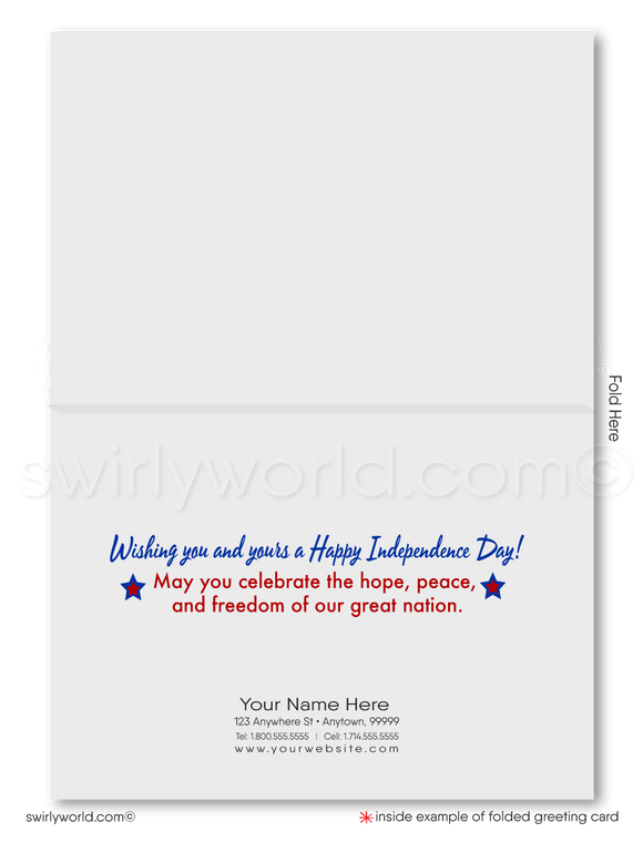 Patriotic Business Happy 4th of July Cards for Business