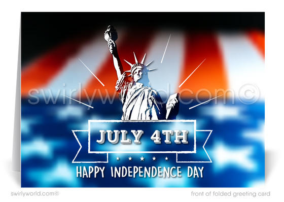 Lady Liberty Happy Independence Day Cards for Business