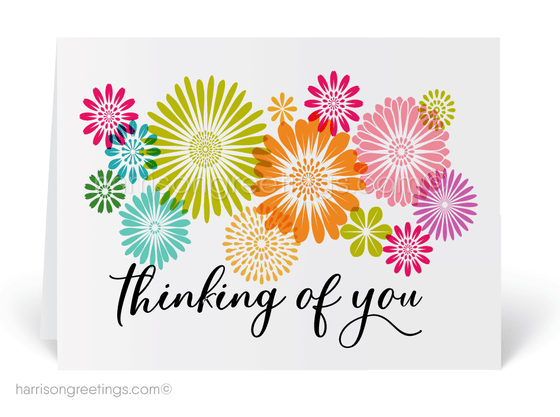 Thinking of You Modern Greeting Cards