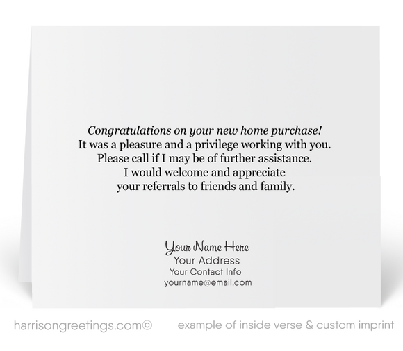 Thank You Referral Cards For Realtors