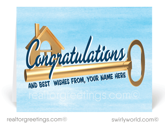 Client Congratulations Cards on New Home Purchase