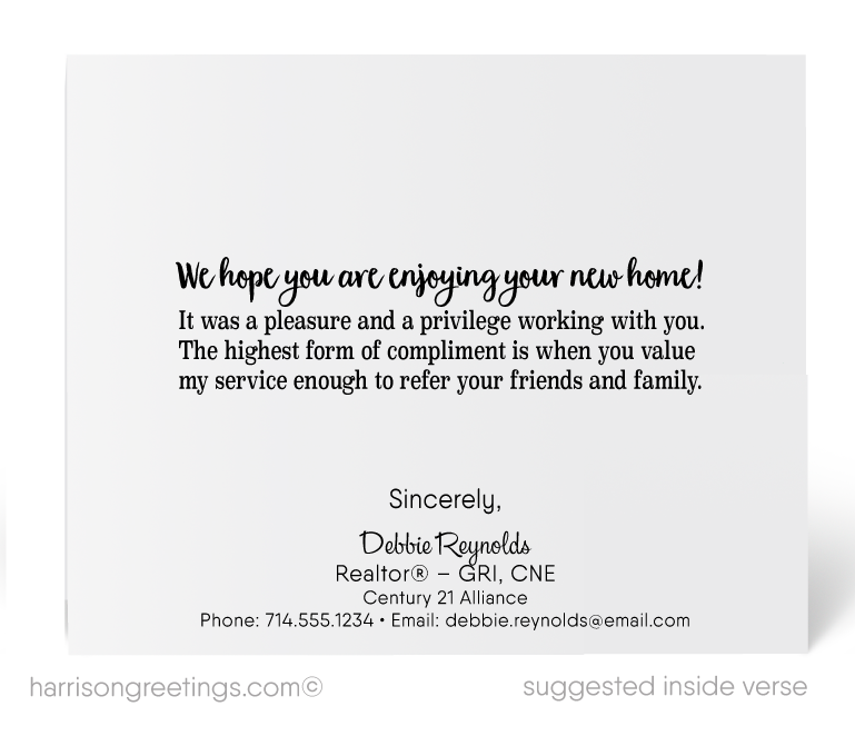 Client congratulations cards on new home purchase harrison client congratulations cards on new home purchase m4hsunfo