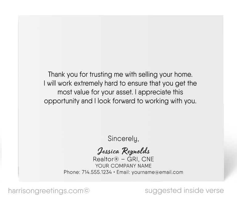 Thank you for listing with me cards for realtors harrison thank you for listing with me cards for realtors m4hsunfo