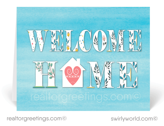 """Welcome Home"" Home Sweet Home Realtor Cards"