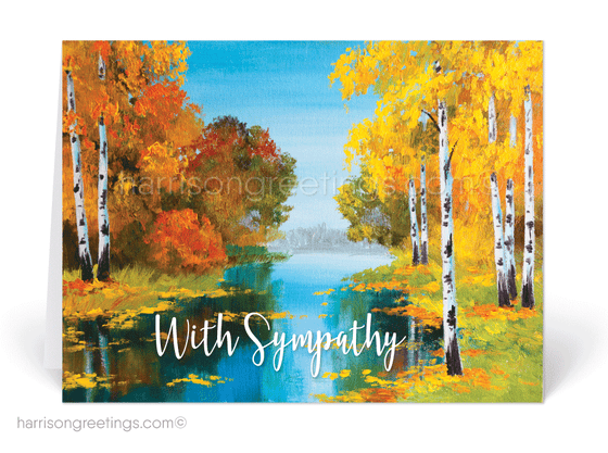 Watercolor With Sympathy Greeting Cards