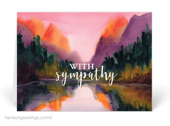 Beautiful Watercolor With Sympathy Cards