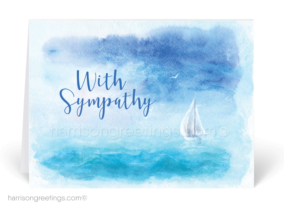 Sailboat Watercolor With Sympathy Cards