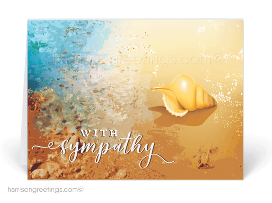 Beautiful Ocean With Sympathy Cards