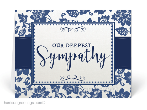Traditional Navy With Sympathy Cards