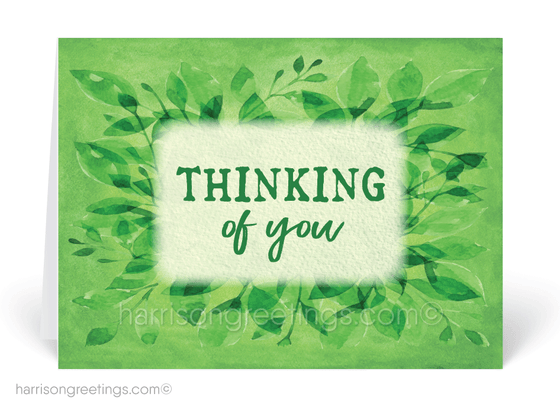 Vintage Watercolor Thinking of You Cards