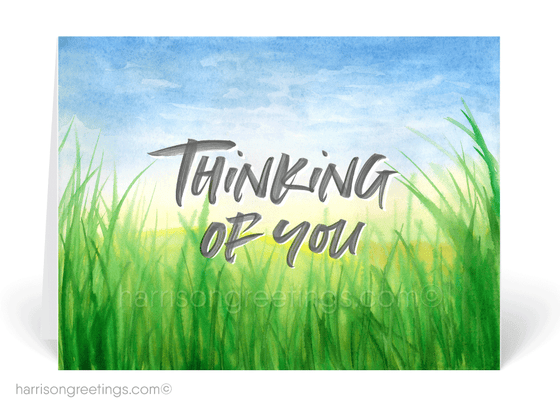 Nature Watercolor Thinking of You Cards