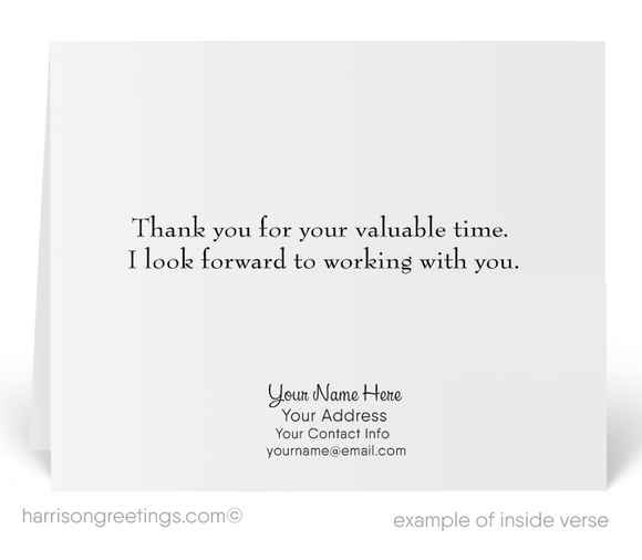 Enjoyed Meeting With You Sales Greeting Card