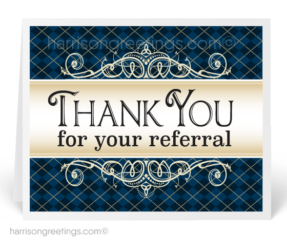 Thank You For Your Referral Greeting Cards