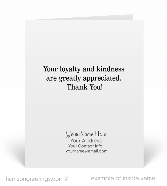 Thank You For Your Referral Greeting Cards Harrison Greeting Cards