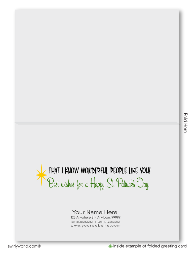 Cute Happy St. Patrick's Day Greeting Cards for Business