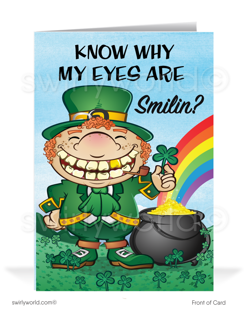 Irish Eyes Smiling Funny St. Patrick's Day Cards for Business
