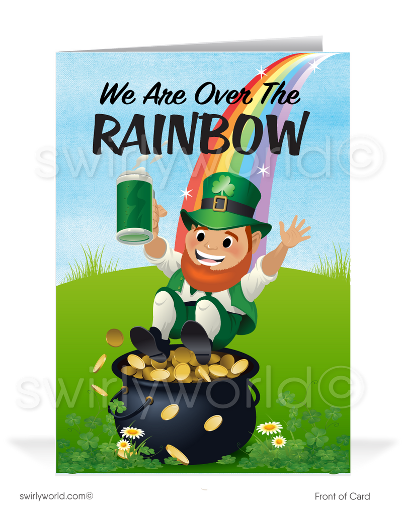 Funny Happy St. Patrick's Day Greeting Cards for Business