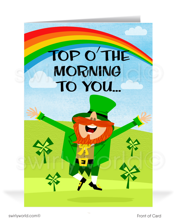 Funny Leprechaun Happy St. Patrick's Day Greeting Card