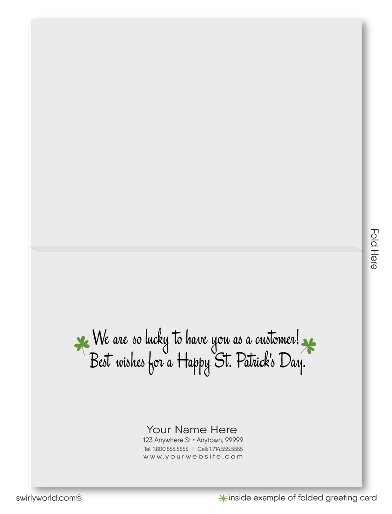 Leprechaun Happy St. Patrick's Day Cards for Business