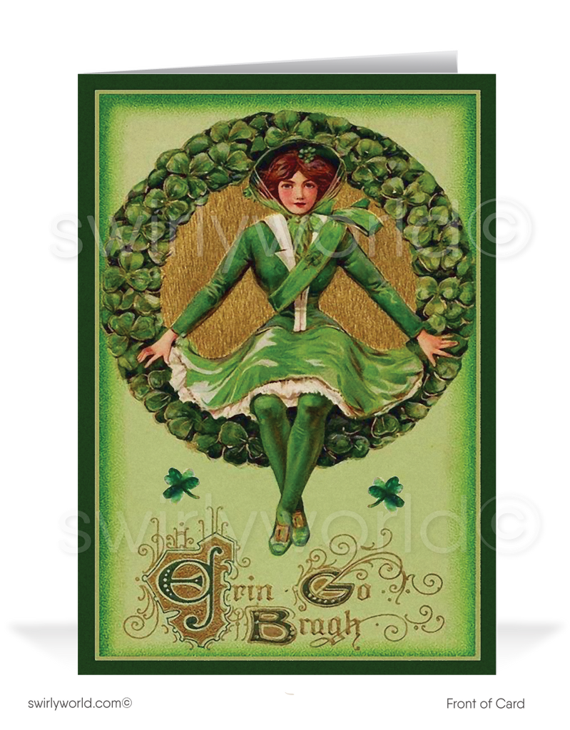 1920's Vintage Victorian Retro Happy St. Patrick's Day Cards