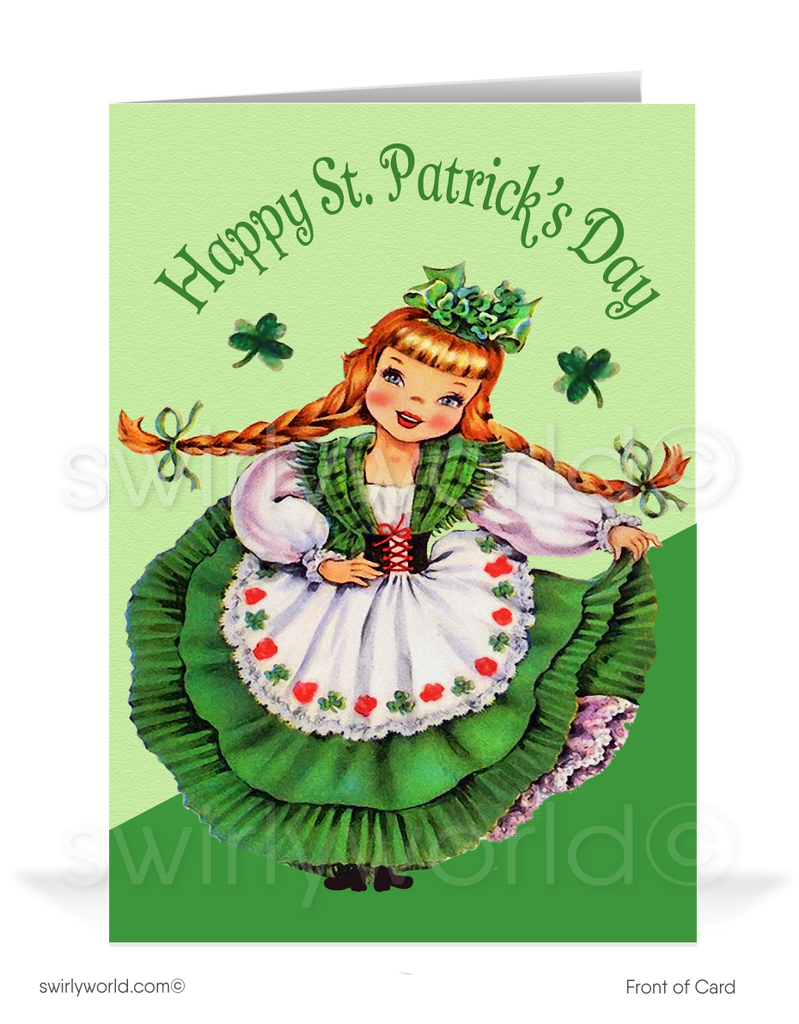 Vintage 1940's Happy St. Patrick's Day Greeting Cards