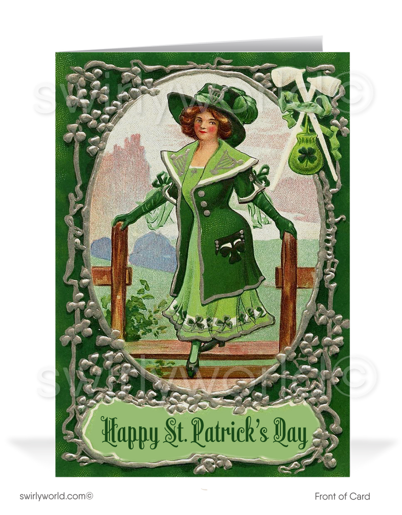 1920's Vintage Victorian Old Fashioned Happy St. Patrick's Day Cards