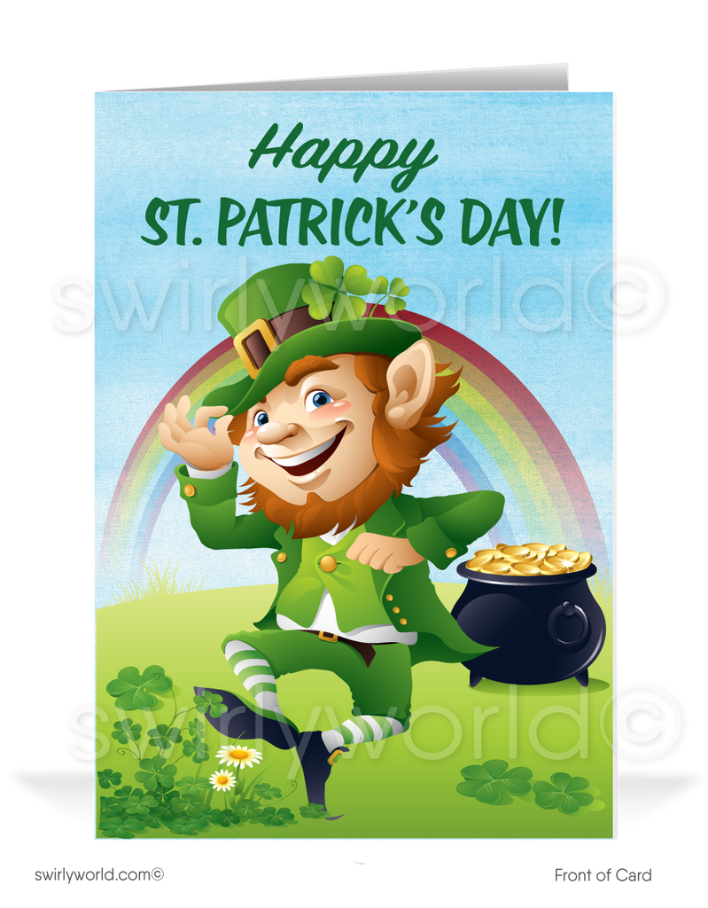 Business Happy St. Patrick's Day Cards for Customers
