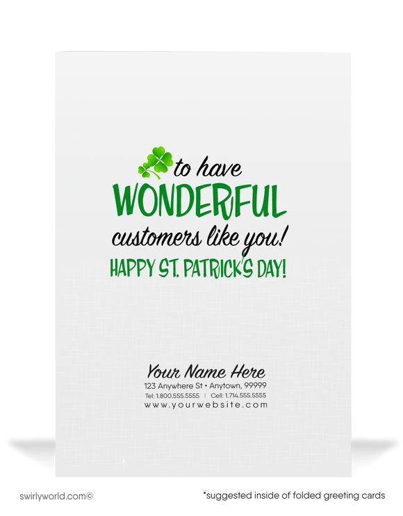 Business Happy St. Patrick's Day Greeting Cards for Customers