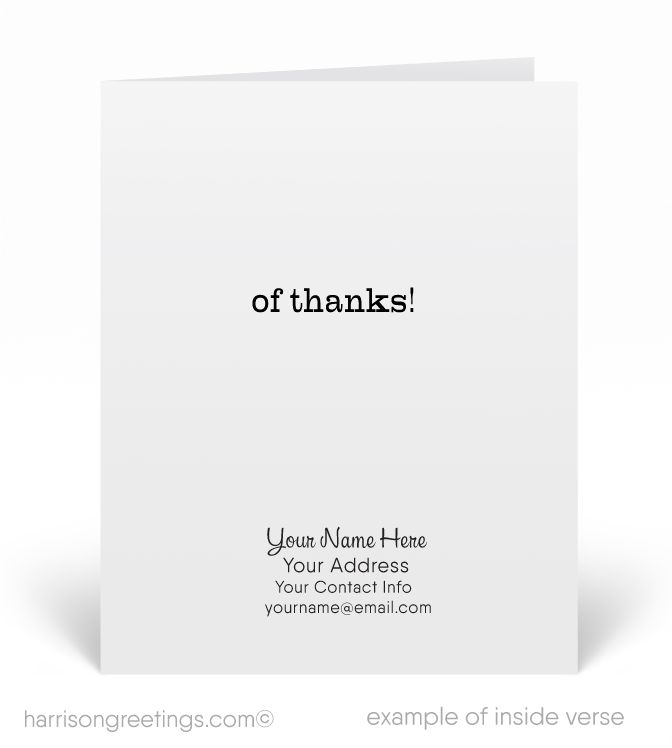 """Just a Note of Thanks"" Client Cards"