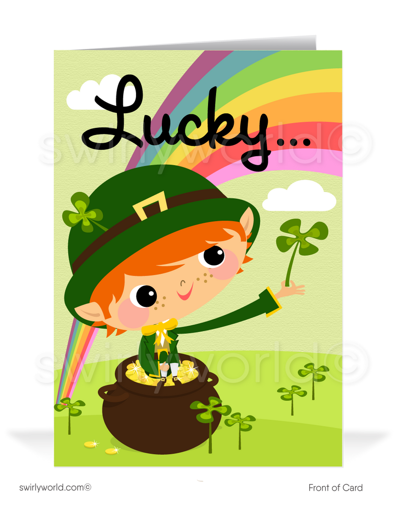 Lucky To Have You As A Client Business St. Patrick's Day Cards