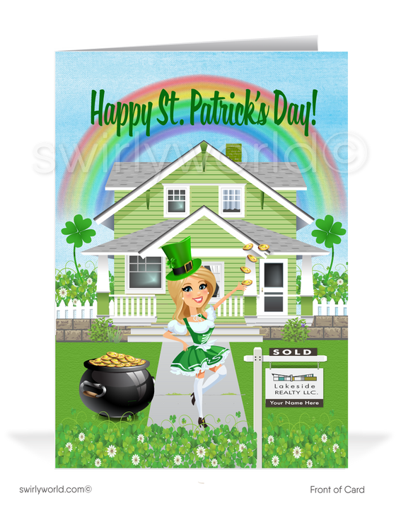 Realtor Happy St. Patrick's Day Greeting Cards for Clients