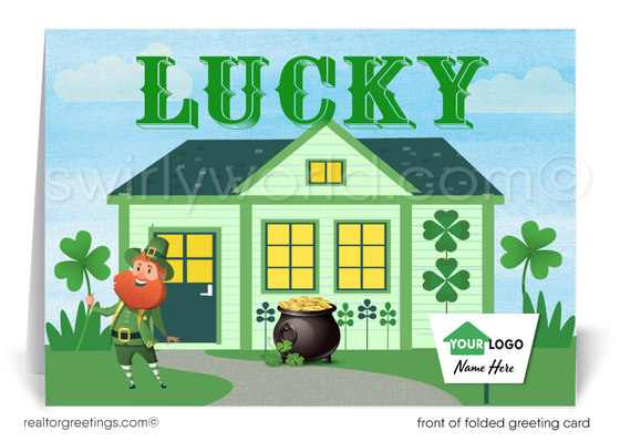 Business Client Happy St. Patrick's Day Cards for Realtors® and Agents