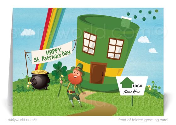 Cute Shamrock Happy St. Patrick's Day Cards for Realtors® and Agents
