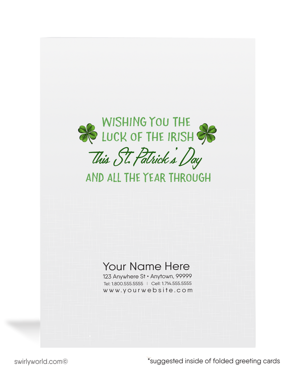 Cute Shamrocks Vintage 1950's Retro Happy St. Patrick's Day Cards