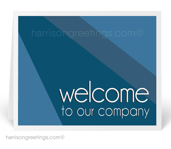 Modern Welcome to Our Company Cards