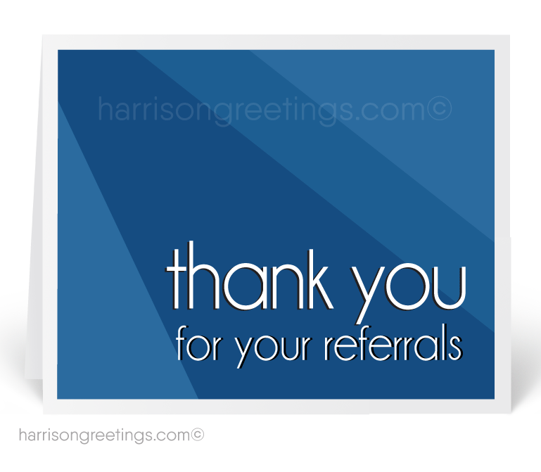 Modern Referral Greeting Cards for Customers