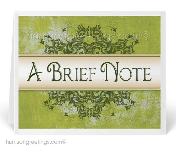 A Brief Note Sales Prospecting Client Cards