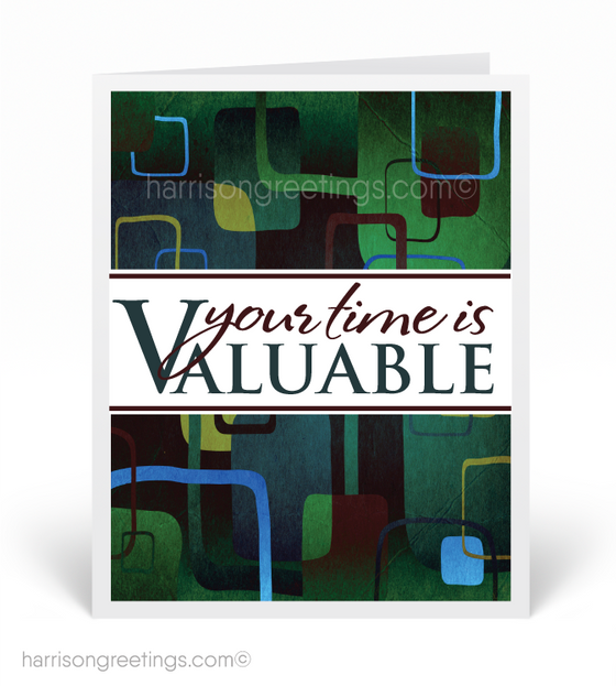 """Your Time is Valuable"" Sales Greeting Cards"