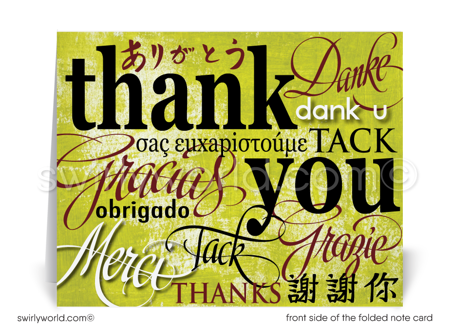Professional Business Thank You Note Cards