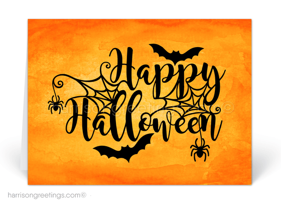 Business Halloween Greeting Cards for Customers