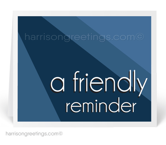 """A Friendly Reminder"" Appointment Greeting Cards"