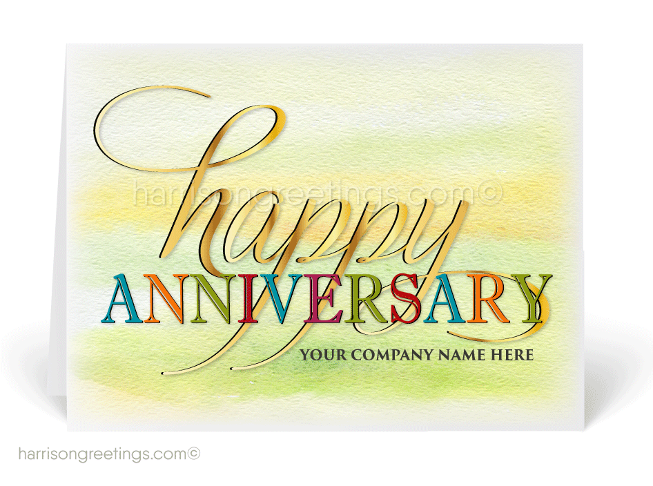 Anniversary Cards for Business Professionals