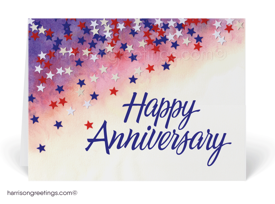 Patriotic Anniversary Greeting Cards for Business