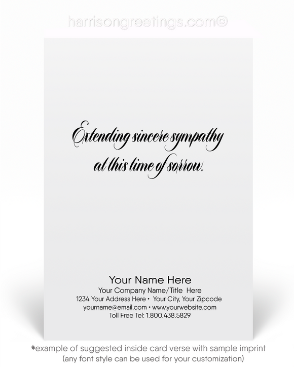 Wholesale With Sympathy Greeting Cards