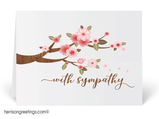 Floral With Sympathy Greeting Cards