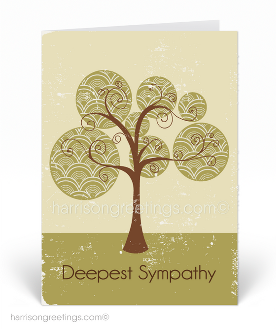 Vintage With Sympathy Greeting Cards