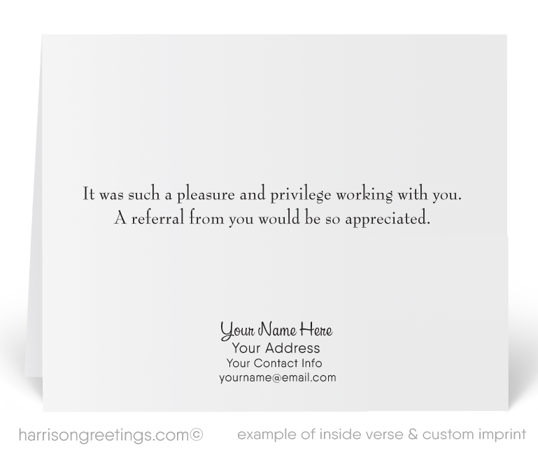 Thank You Referral Cards For Realtors Harrison Greeting Cards