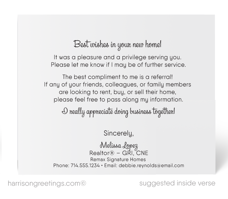 Just Sold Realtor Thank You Cards Harrison Greeting Cards