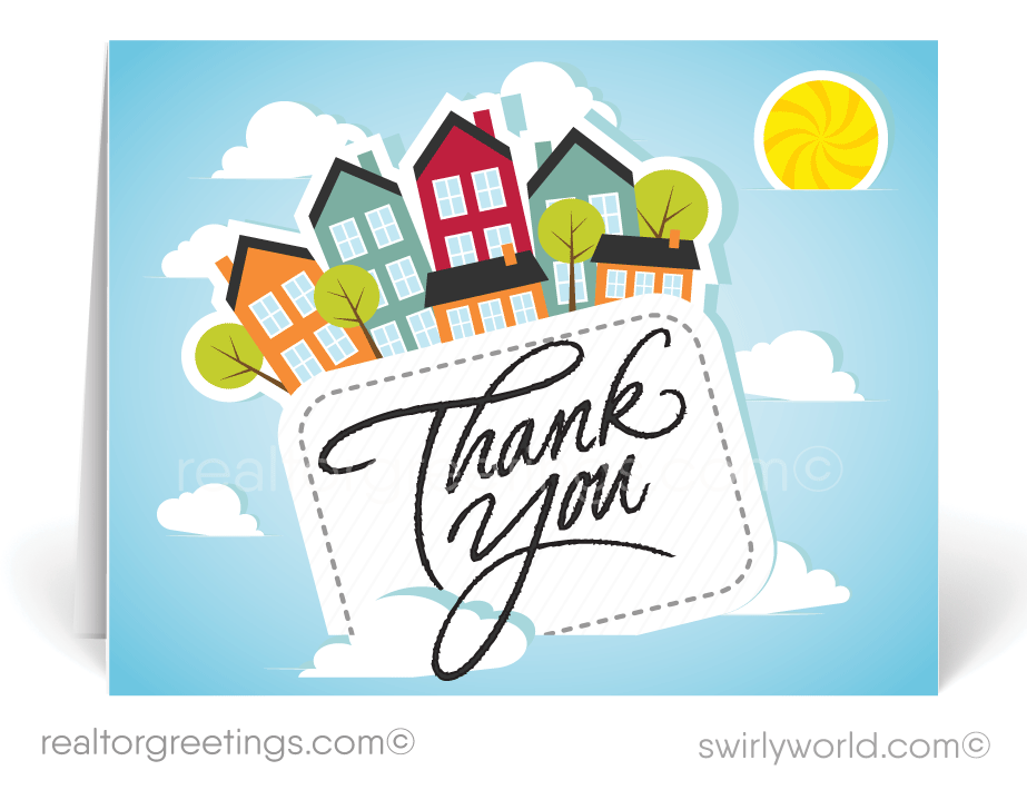 Referral Thank You Cards For Realtors