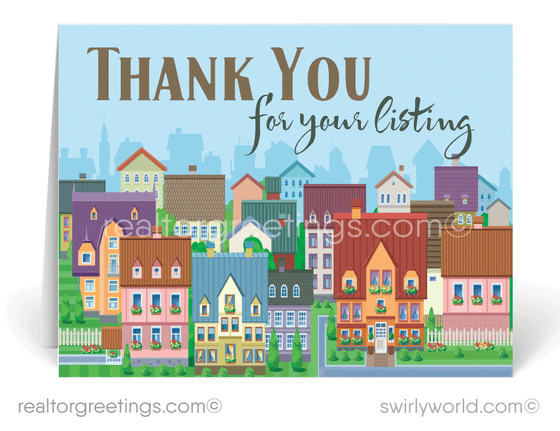 """Thank You For Listing With Me"" Cards for Realtors"